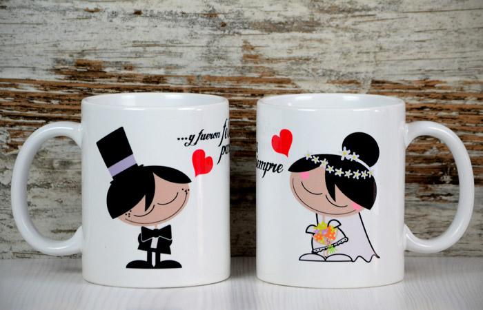 Tazas personalizadas para bodas y eventos