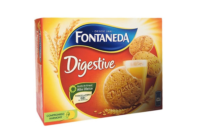 Caja de galletas Fontaneda Digestive