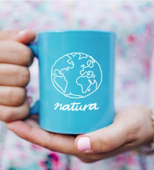 Taza publicitaria de Natura