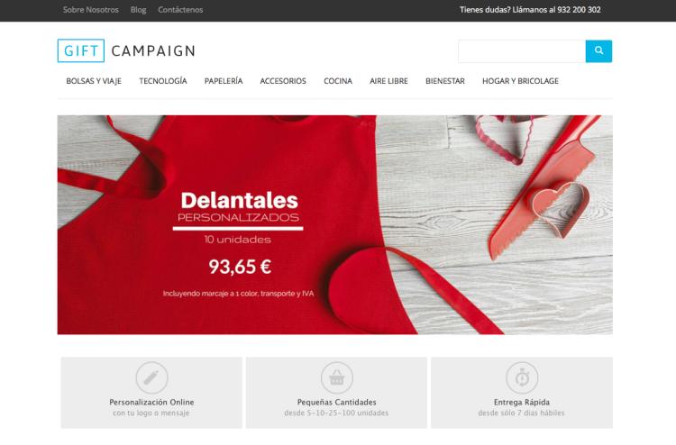 Nueva web de GiftCampaign