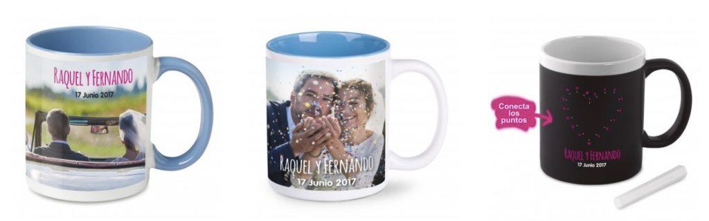 Las tazas personalizadas para bodas son tendencia en regalos personalizados