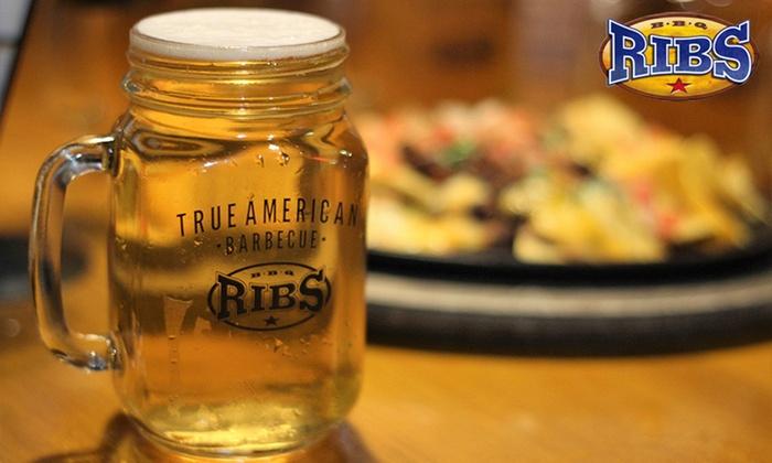 Jarra Mason, un clásico reintentado como vaso personalizado de BBQ Ribs