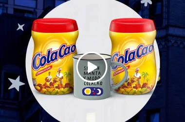 Tazas de propaganda empresa Cola Cao