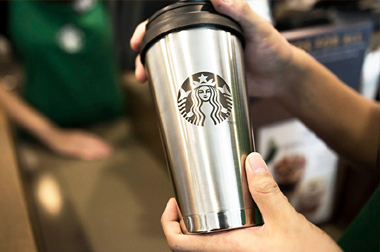 Starbucks vasos takeaway reciclados