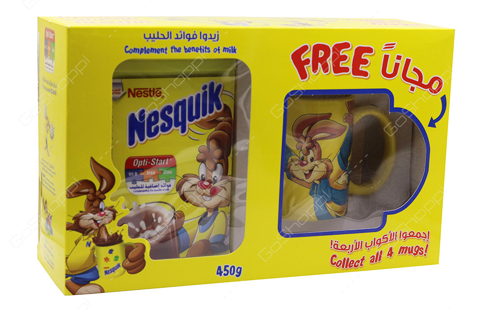 Tazas promocionales de los packs de Nesquik