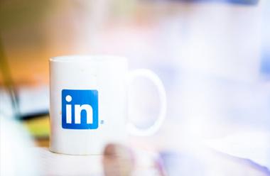 Tazas personalizadas de las empresa LinkedIn