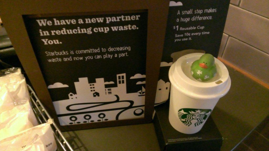 Campaña de reciclaje de Starbucks