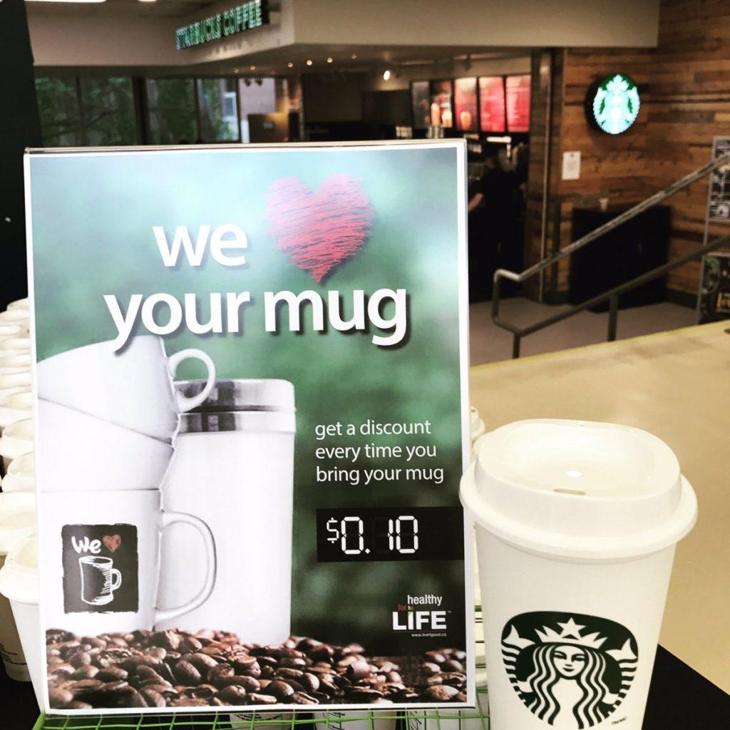 Campaña de devolución y reuso de tazas de Starbucks