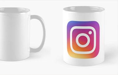 Tazas con logotipo con degradados Instagram