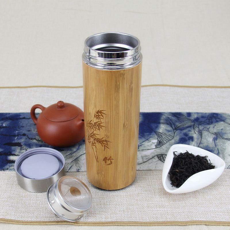Termo personalizado eco de bambú