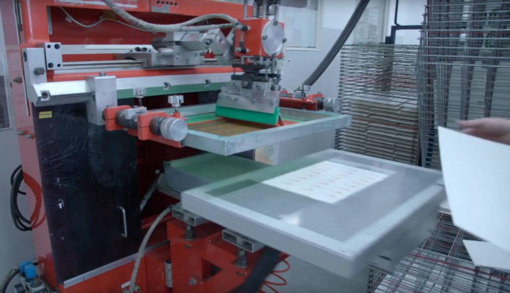 Serigrafía para impresión mediante transfer cerámico