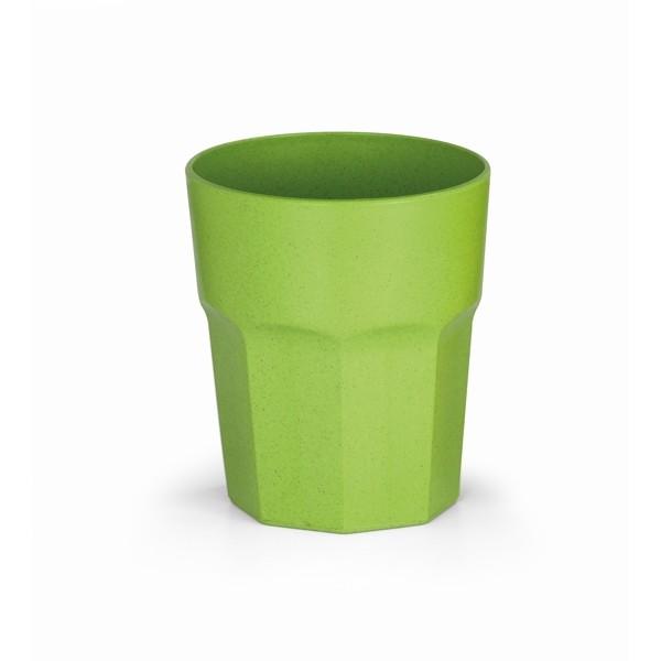 Vaso de fibra de arroz verde