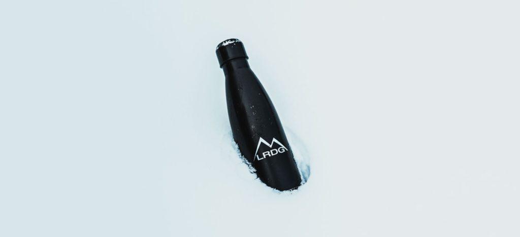 Botella de acero con logo