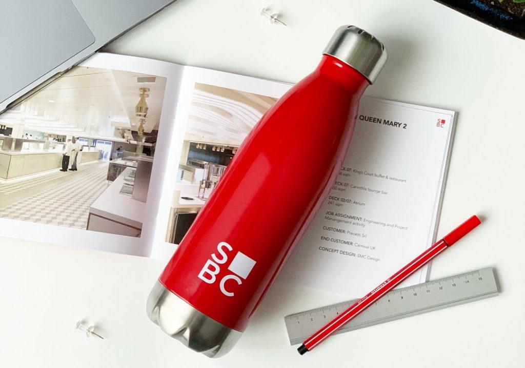 botella personalizable con logo