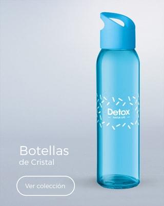 Botellas de cristal serigrafiadas con logotipo