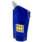 Botellas enrollables con logo azul