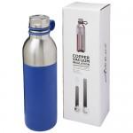 Botella de acero función térmica personalizable azul