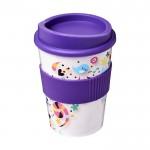 Vasos takeaway con logo lila
