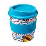 Vasos pequeños para llevar café con logotipo azul cielo