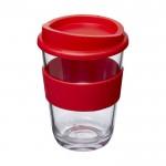 Tazas takeaway con logo empresa rojo