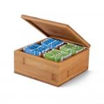 Caja personalizable con infusiones color marfil primera vista