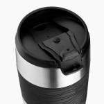 Vasos termo personalizados de acero color negro segunda vista