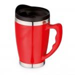 Tazas de viaje con asa personalizables color rojo