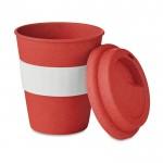 Tazas takeaway con logotipo rojo
