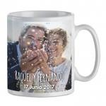 Taza para bodas con foto impresa