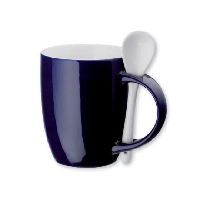 Tazas mug personalizadas con cuchara azul