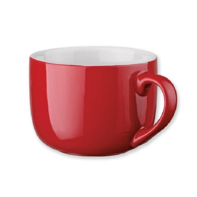 Tazas personalizadas de desayuno rojo
