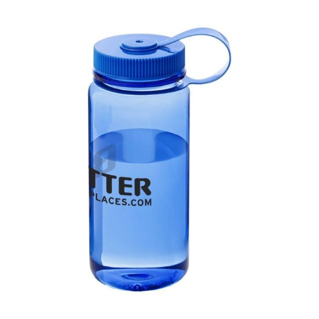 Botella plástico personalizada azul