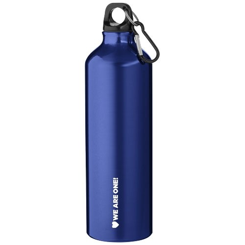 Botellas aluminio grandes con logo color azul