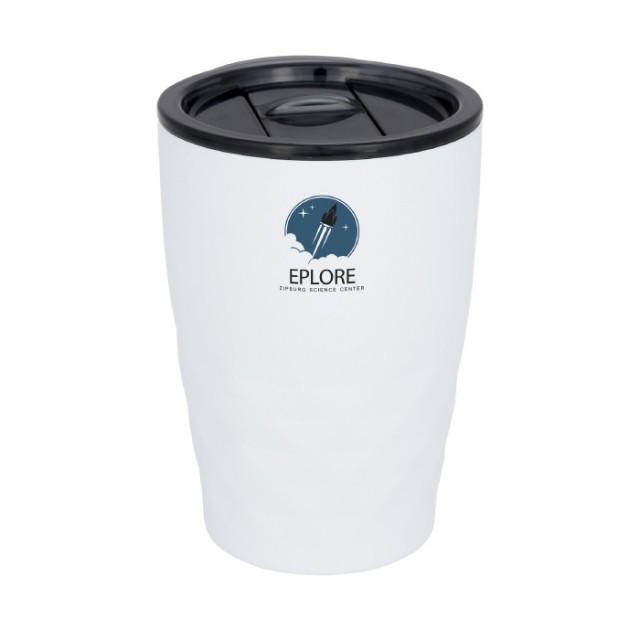 Vasos isotérmicos con logotipo blanco