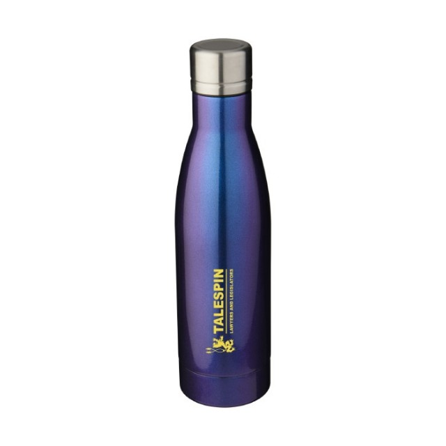 Botellas metal con logotipo azul