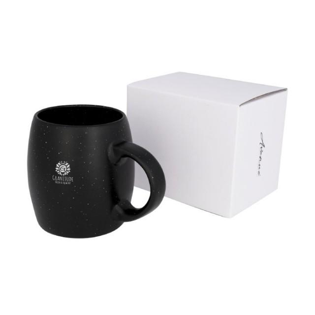 Mugs con caja y logo color negro