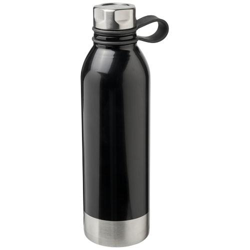 Botella grande acero personalizable negro