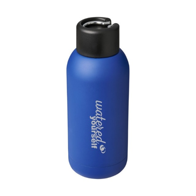Botella promocional metal azul