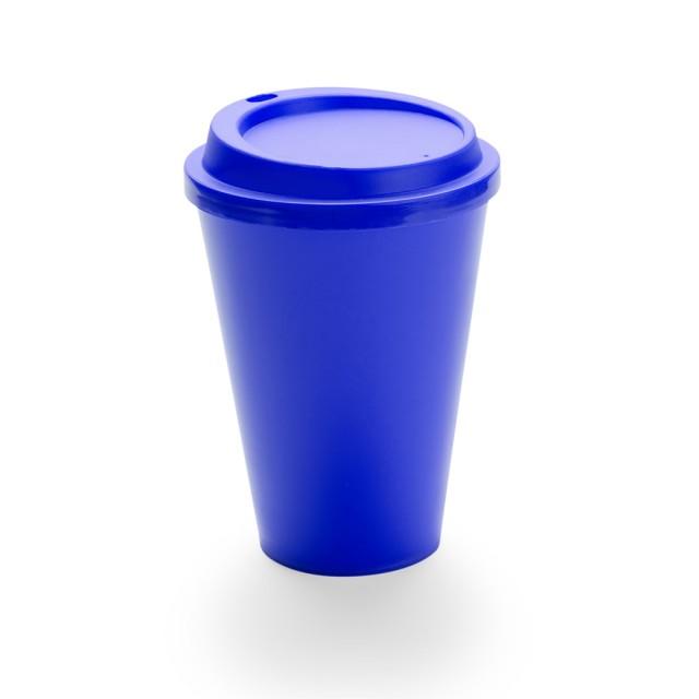 Tazas para llevar personalizadas de colores vivos color azul