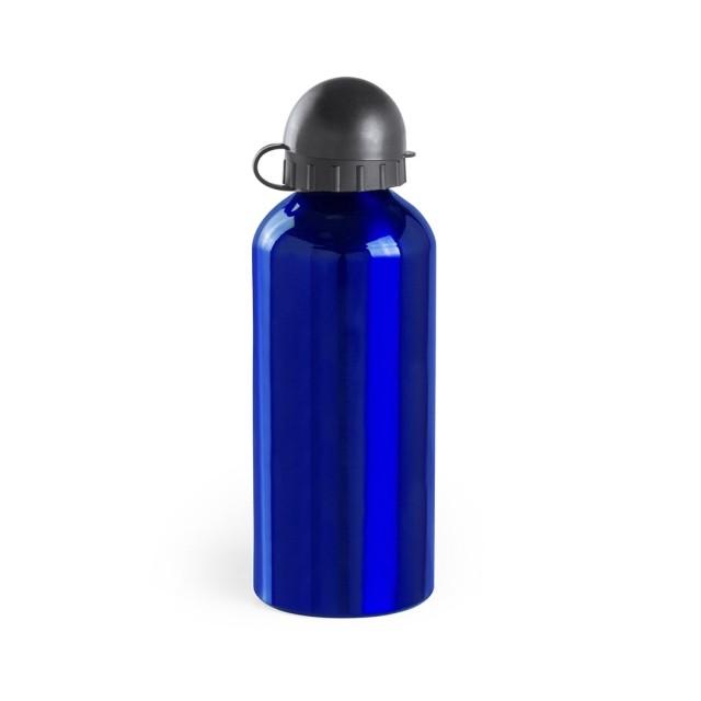 Bidón metálico publicitario color azul
