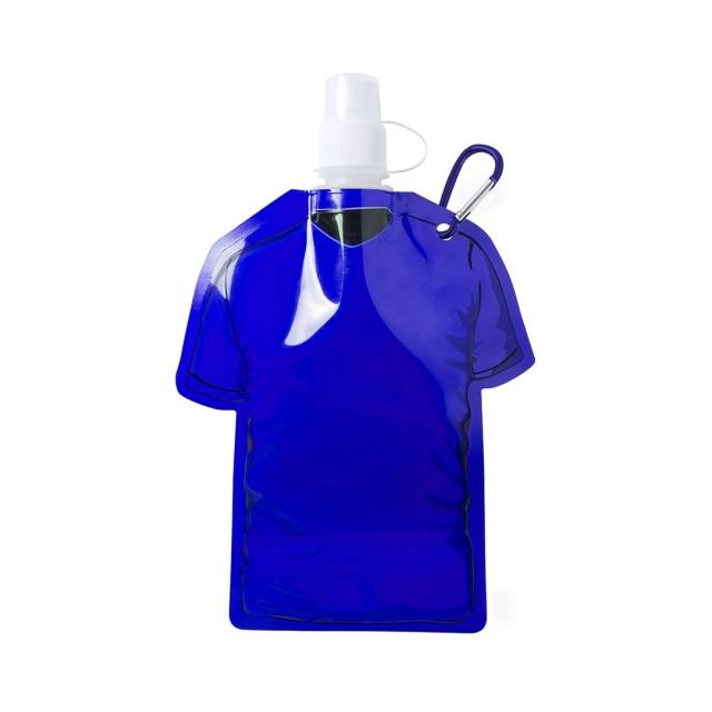 Botellas plegables para personalizar azul