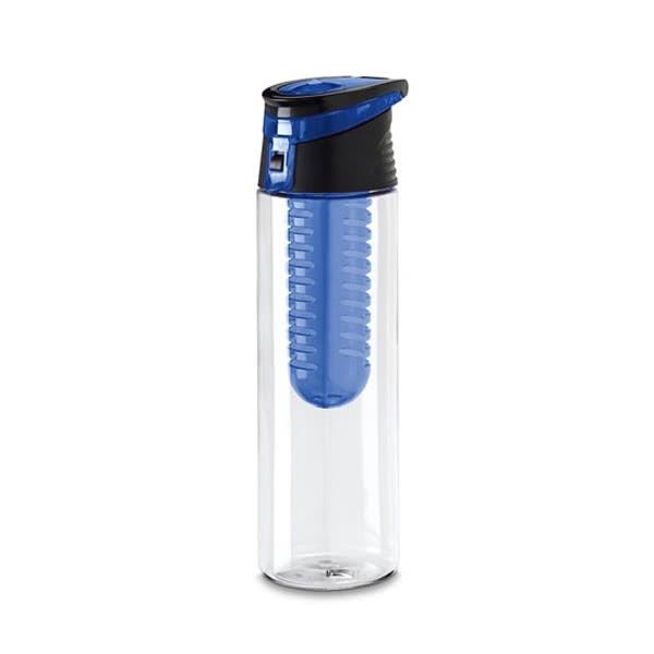 Botella agua accesorio fruta publicitaria azul