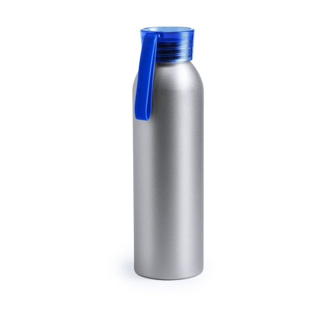 botellas de agua metálicas personalizadas azul