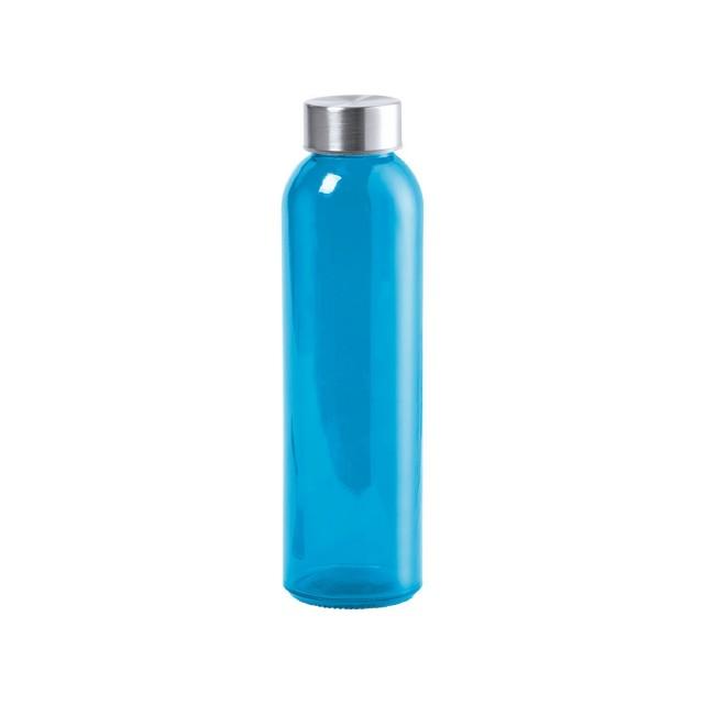 Botellas de cristal personalizables azul