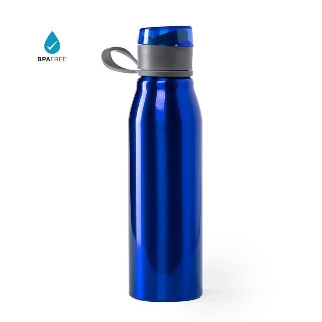 Botellas aluminio publicitarias color azul