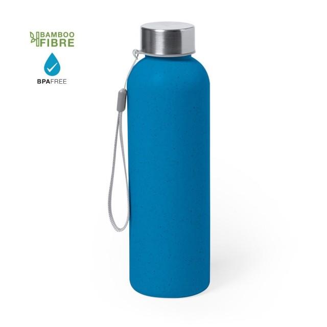 Botellas de bambú personalizadas azul