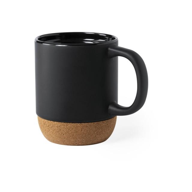 Tazas base de corcho merchandising color negro