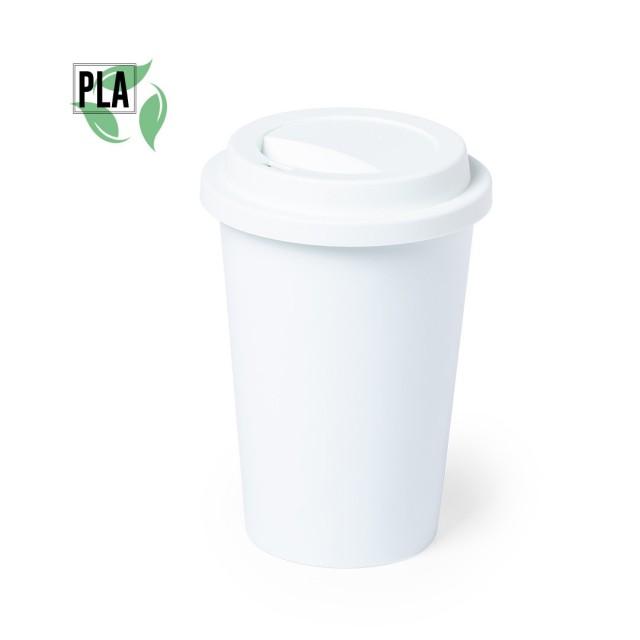 Tazas take away compostables personalizadas