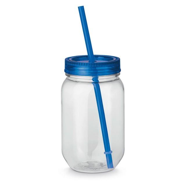 Vasos jarra con pajita personalizados