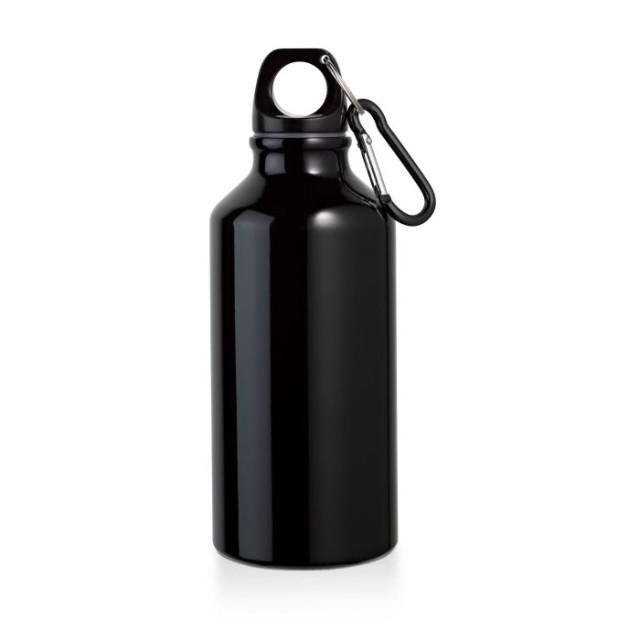 Botella publicitaria pequeña aluminio negro